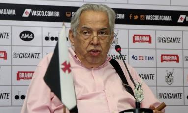 O ex-presidente do Vasco Eurico Miranda, em foto de 17-1-2017 Foto: Paulo Fernandes / Vasco/Divulgação