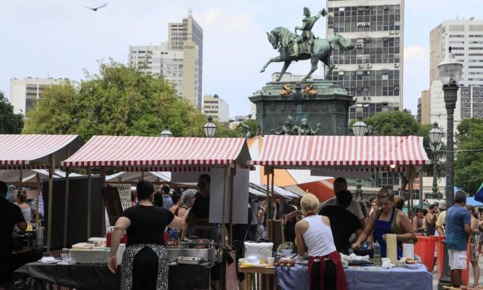 Tiradentes Cultural: mais movimento e segurança no entorno Foto: Uanderson Fernandes / Agência O Globo