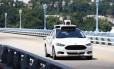 Carro autônomo do Uber em testes nos EUA Foto: Jared Wickerham / AP