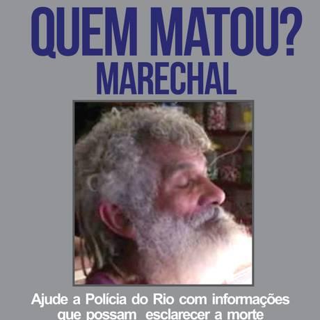 Disque Denúncia pede ajuda na busca por informações sobre morte de morador da Rocinha Foto: Divulgação