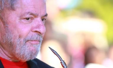 O ex-presidente Lula durante caravana no Rio Grande do Sul Foto: Deiogo Vara / REUTERS