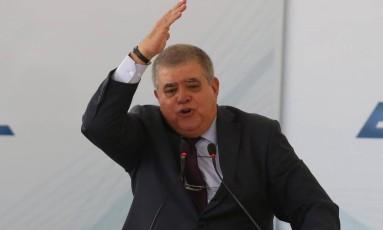 O ministro da Secretaria de Governo, Carlos Marun, no Palácio do Planalto Foto: Ailton de Freitas/Agência O Globo/15-03-2018