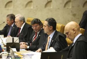 Sessão no Supremo Tribunal Federal, julga o pedido de Habeas Corpus do ex-presidente Luiz Inácio Lula da Silva Foto: Ailton Freitas / Agência O Globo