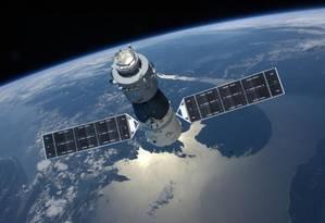 A Tiangong-1 foi lançada em 2011 e orbita o planeta fora de controle desde 2016 Foto: CNSA