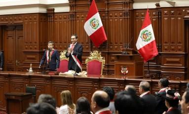 Martin Vizcarra toma posse como presidente do Peru Foto: MARIANA BAZO / REUTERS
