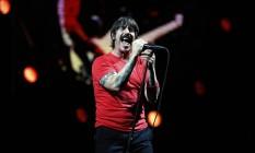 Anthony Kiedis: vocalista do Red Hot Chili Peppers não estava em seu momento mais inspirado Foto: Lucas Tavares / Agência O Globo