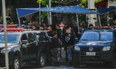 Houve um intenso tiroteio na Rocinha na manhã deste sábado Foto: Marcelo Regua / Agência O Globo
