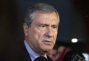 O ministro da Justiça, Torquato Jardim, durante entrevista Foto: Givaldo Barbosa/Agência O Globo/16-03-2018