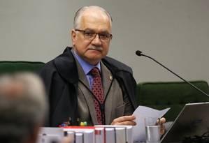O ministro Edson Fachin, da Segunda Turma do STF Foto: Ailton de Freitas/Agência O Globo/13-03-2018