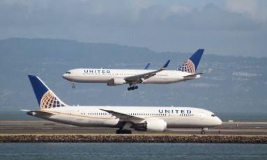 Aviões da United Airlines Foto: Louis Nastro / Louis Nastro/Reuters/7-2-2015