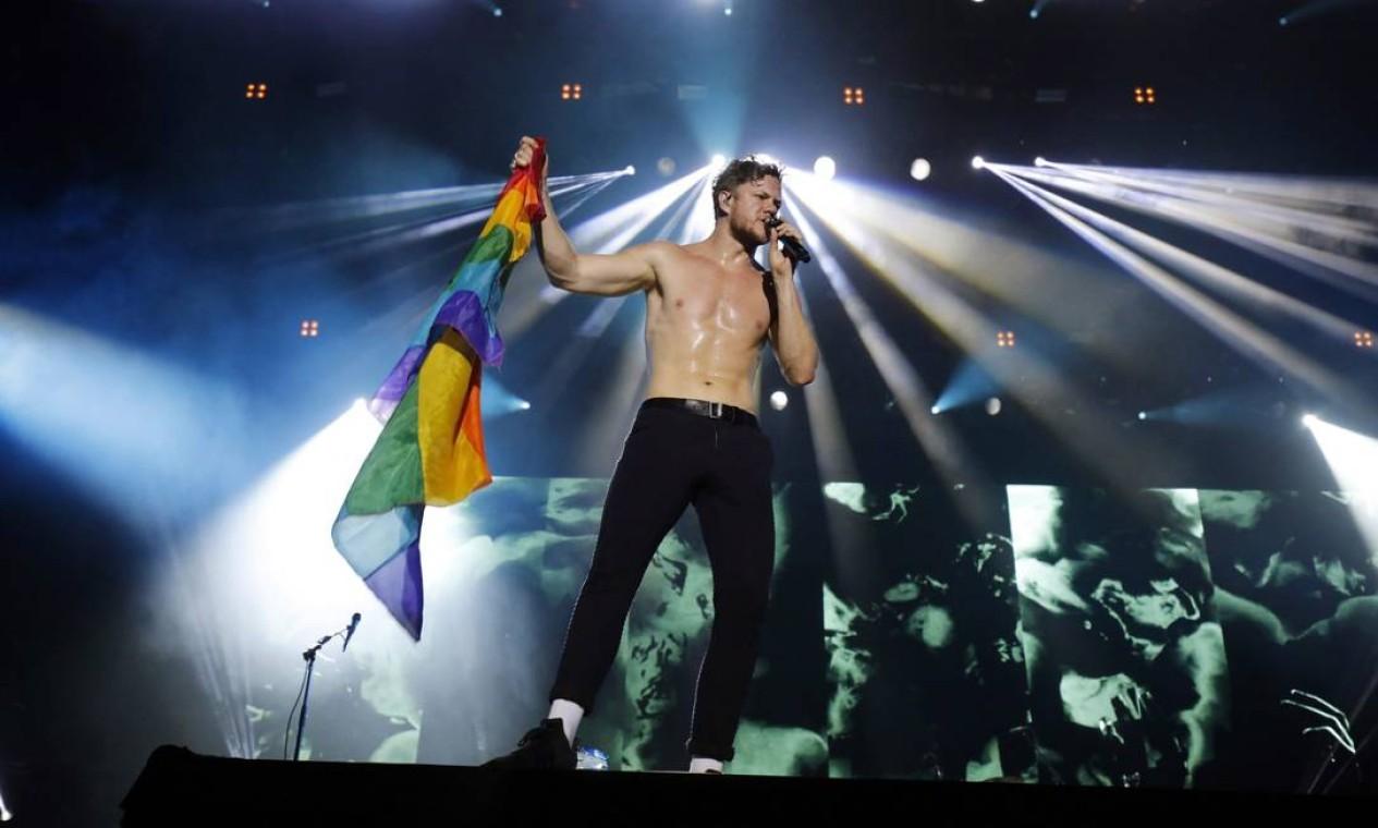 Apresentação do Imagine Dragons arrancou suspiros da plateia Foto: Lucas Tavares / Agência O Globo