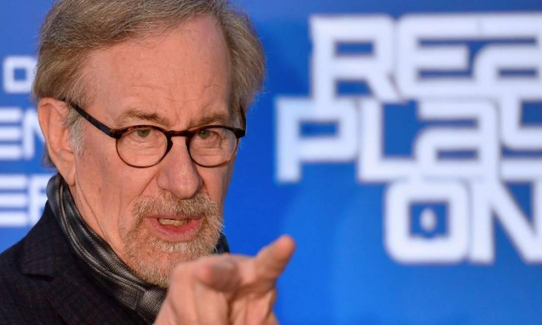 "Steven Spielberg na premiere de ""Jogador Nº1"" em Roma Foto: Alberto Pizzoli / AFP"