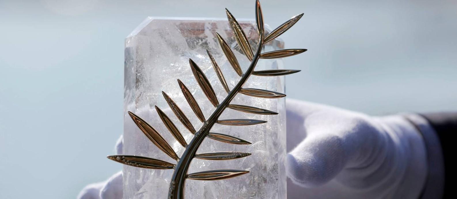 A Palma de ouro, principal prêmio disputado no Festival de Cannes Foto: Divulgação / Divulgação