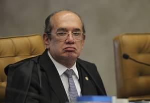 O ministro Gilmar Mendes, durante sessão do STF que começou a analisar habeas corpus de Lula Foto: Ailton Freitas/Agência O Globo/22-03-2018