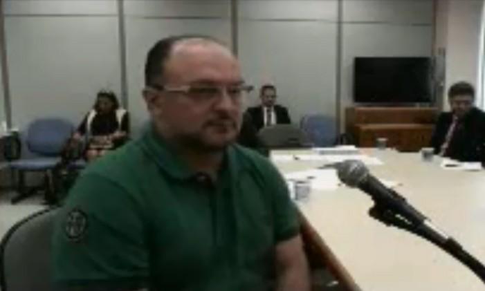 Leon Vargas em depoimento em sua audiência na Lava-Jato Foto: Reprodução