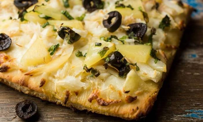 Pizza de bacalhau da Vero Foto: Divulgação