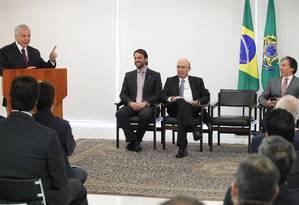 Presidente Michel Temer durante solenidade do projeto Avançar Cidades Foto: Ailton de Freitas / Agência O Globo