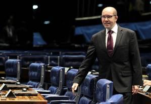 O ex-senador Demóstenes Torres, no plenário do Senado Foto: Aílton de Freitas/Agência O Globo/02-05-2012