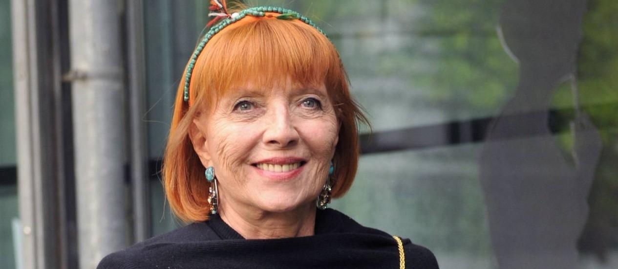 Stèphane Audran em foto de 2009, quando foi na inauguração de uma mostra dedicada a Jacques Tati, na Cinamateca Francesa Foto: MIGUEL MEDINA / AFP