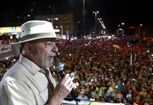 O ex-presidente Luiz Inácio Lula da Silva Foto: DIEGO VARA / REUTERS 23/08/2018
