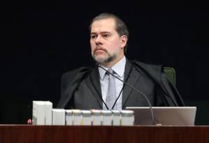 O ministro Dias Toffoli, durante sessão da Segunda Turma do STF Foto: Carlos Humberto/STF