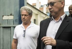 O empresário Jacob Barata Filho saí do presídio em Benfica Foto: Ana Branco / Agência O Globo