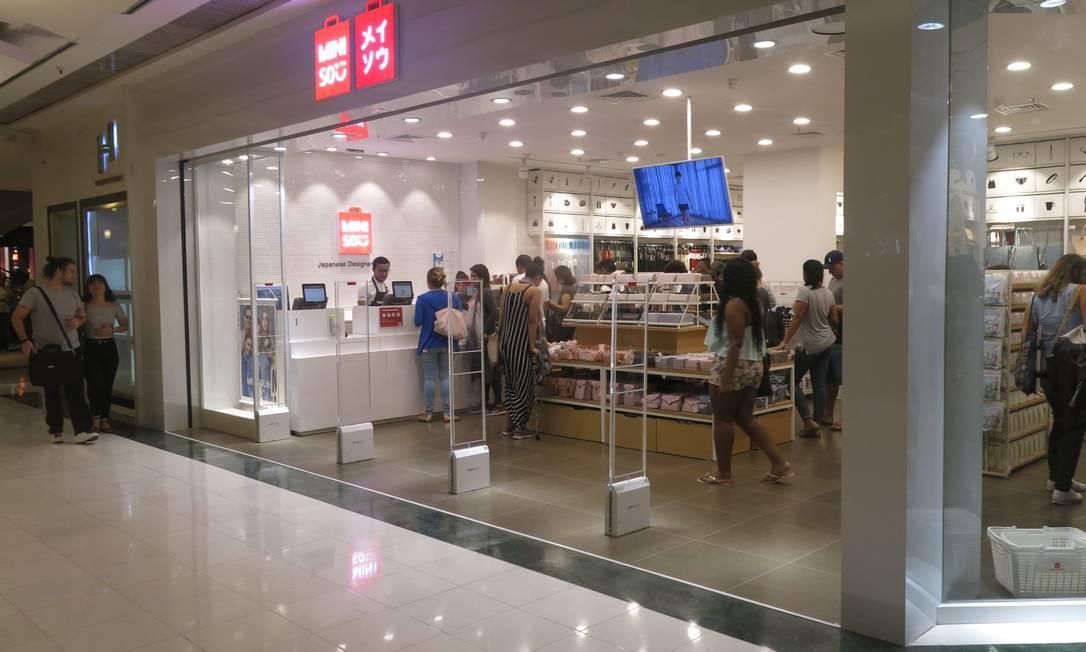 c75c0248c Design japonês a preços acessíveis  Miniso inaugura unidade no RioSul -  Jornal O Globo
