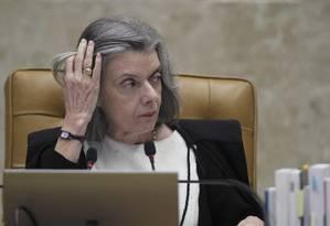 A ministra Cármen Lúcia, presidente do STF Foto: Ailton Freitas/Agência O Globo/22-03-2018
