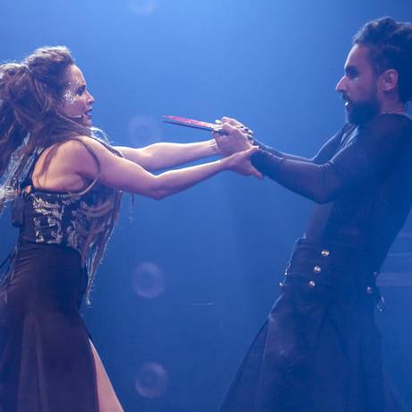 Carolina Pismel e Paulo Verlings são Lady Macbeth e Macbeth Foto: Divulgação/Paula Kossatz