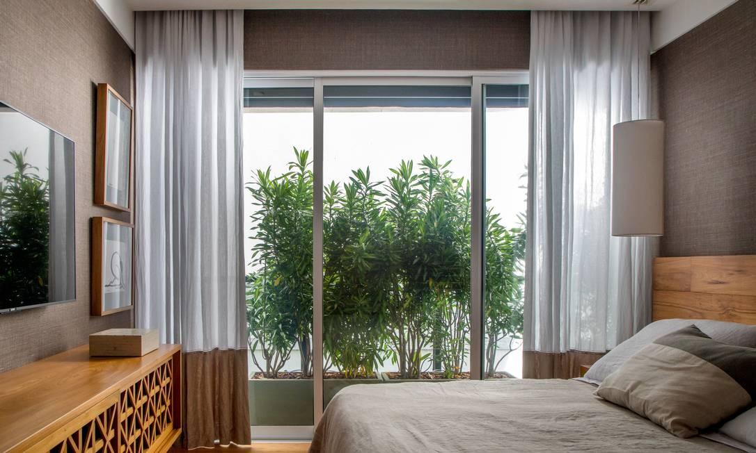 Plantas oferecem proteção natural ao quarto Foto: André Nazareth