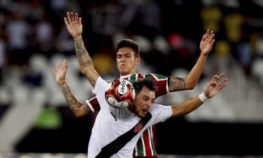 Vasco e Fluminense voltam a se enfrentar nesta quinta-feira Foto: Marcelo Theobald/7-3-2018 / Agência O Globo