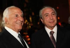 O advogado José Yunes e o presidente Michel Temer Foto: Zanone Fraissat/Folhapress