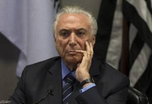 Presidente Michel Temer (PMDB) Foto: Edilson Dantas / Agência O Globo
