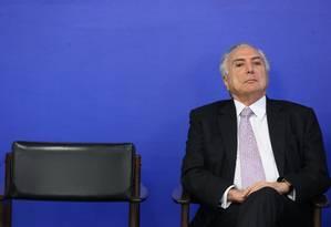 A prisão de três amigos do presidente Michel Temer deve alterar suas prioridades Foto: Ailton de Freitas / Agência O Globo
