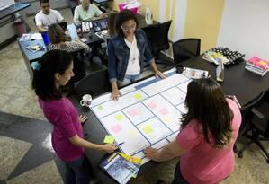 As aulas são realizadas em um espaço de coworking Foto: Divulgação