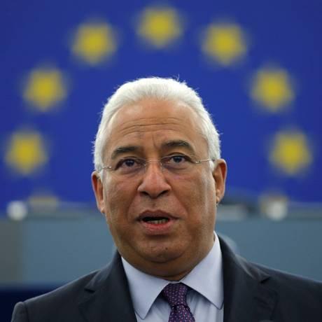 Primeiro-ministro de Portugal, António Costa, faz discurso no Parlamento Europeu Foto: VINCENT KESSLER / REUTERS