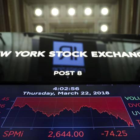 Bolsa de Nova York Foto: Drew Angerer / AFP