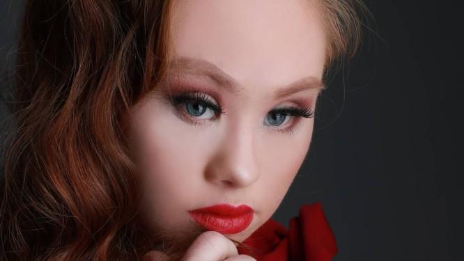 A modelo australiana Madeline Stuart Foto: Anjeza Dyrmishi