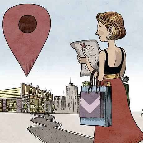 Dificuldades da troca de produtos Foto: Ilustração