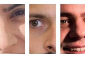 Montagem sobre foto dos pré-candidatos Tábata Amaral, Marcelo Calero e Paulo Gontijo Foto: Montagem/O GLOBO