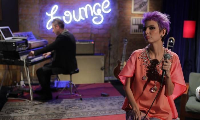 Cantora Ana Claudia Lomelino no programa Lounge Foto: Divulgação