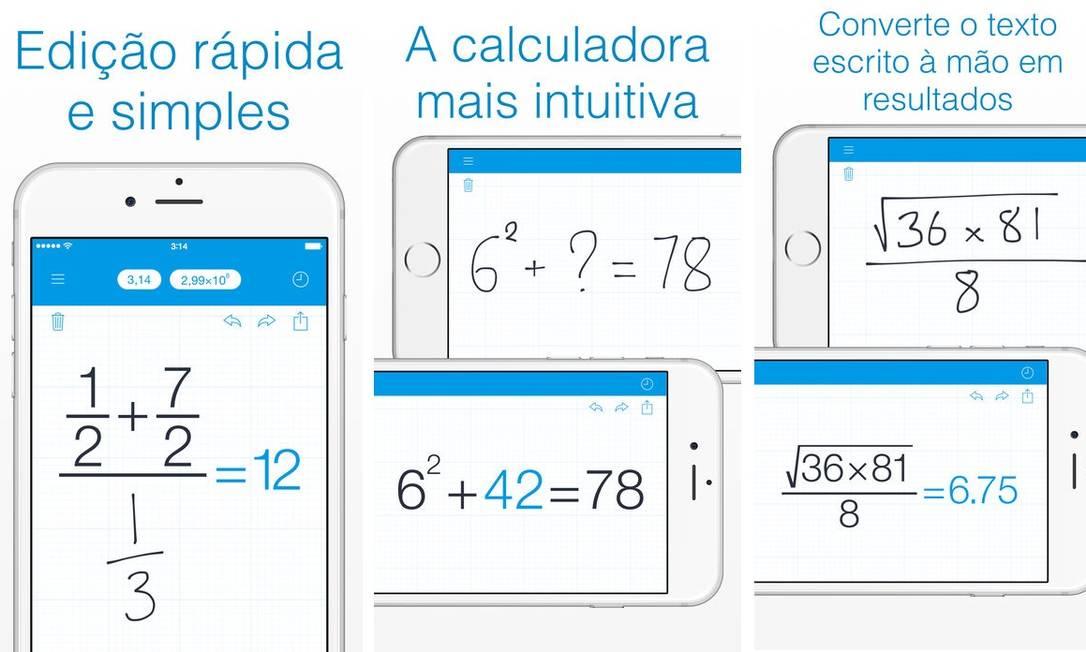 1. MYSCRIPT CALCULATOR - O sonho de qualquer aluno é montar uma equação e ter a resposta dela em segundos. Essa é a proposta do MyScript Calculator, que permite escrever uma conta à mão na tela do celular. Em tempo real, a solução é apresentada pelo aplicativo digitalmente, sem a necessidade de fazer as equações pelo teclado do smartphone. Entre os cálculos convertidos pelo app estão temas como trigonometria, logaritmos, parênteses, poderes e operações básicas. Disponível para Android e iPhone (iOS) Foto: Divulgação