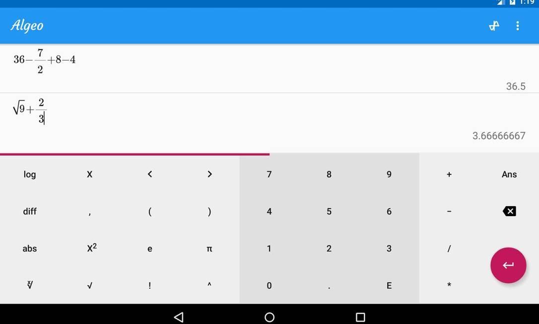 3. GRAPHING CALCULATOR - ALGEO   ANALYZE FUNCTIONS - Gráficos e funções são algumas das lições mais desafiadoras da Matemática. Entretanto, o Graphing Calculator promete simplificar o processo todo. Com o aplicativo, é possível inserir uma função matemática e ter acesso ao gráfico correspondente em tempo real. Sem exigir conexão com a internet, o app consegue ainda substituir as calculadoras científicas completamente e serve até para disciplinas como Física e Química. Disponível para Android Foto: Divulgação