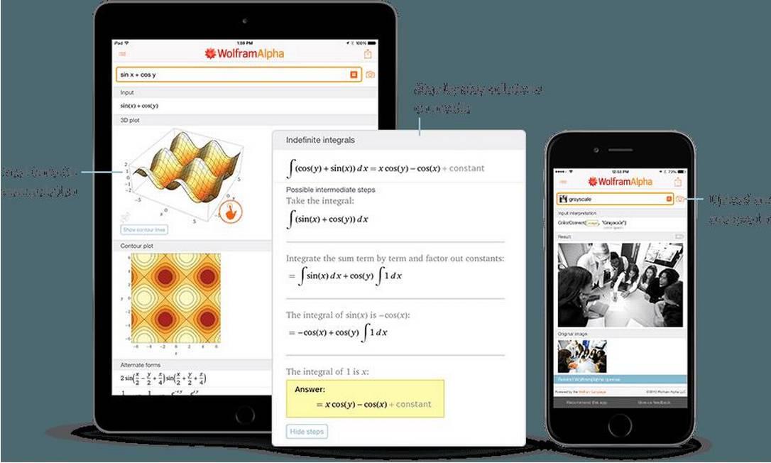 4. WOLFRAMALPHA - Considerado por estudantes de Exatas como essencial, o WolframAlpha se inspira nos computadores dos filmes de ficção científica para gerar estatísticas sobre tudo. O aplicativo tem acesso a uma base de algoritmos gigantesca, que oferece dados sobre a maior parte das ciências. É assim que o WolframAlpha resolve as equações mais simples, Matemática aplicada e até questões da Astronomia. Em uma consulta básica ao programa, é possível saber, por exemplo, a resposta para problemas matemáticos, a taxa de desemprego em um região e até a cotação de moedas. Disponível para Android e iPhone (iOS) Foto: Fotolia
