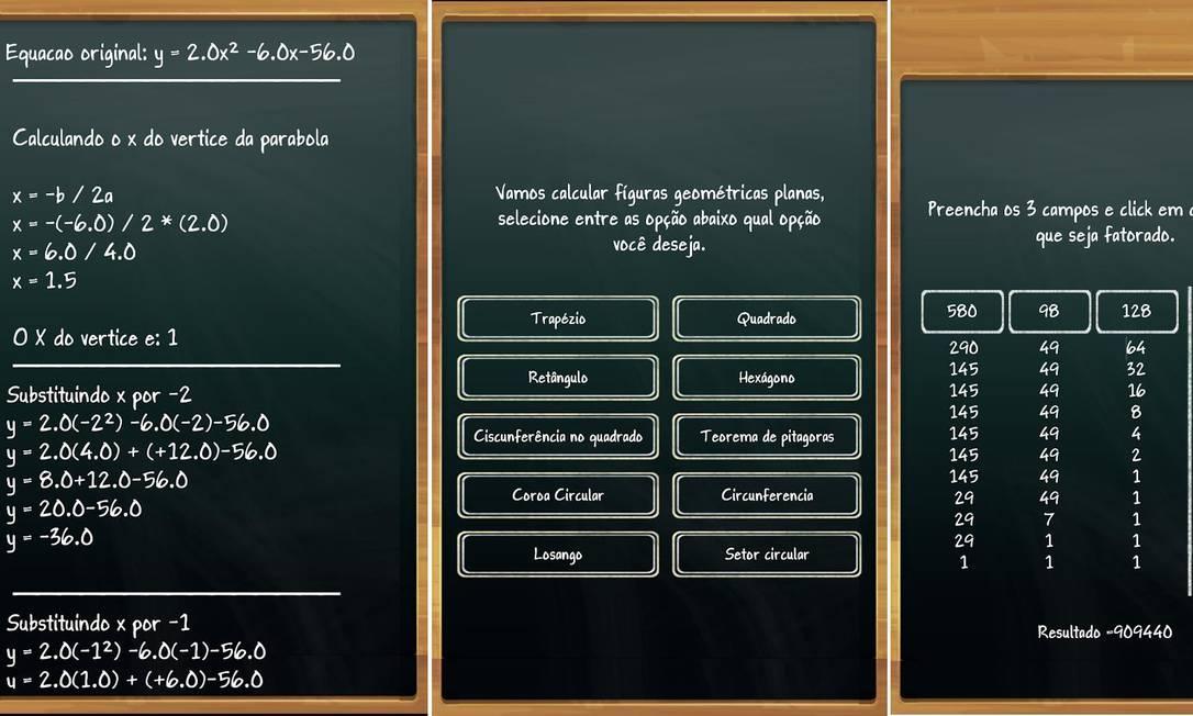 7. COLA MATEMÁTICA FREE - Apesar do nome, o objetivo do Cola Matemática Free não é dar respostas, mas ensinar o passo a passo das equações. Dividido em seções como MMC, conversão, números primos, regra de três e equação de segundo grau, o aplicativo é ideal para conferir erros e acertos detalhadamente após a lição de casa. Disponível para Android e iPhone (iOS) Foto: Divulgação