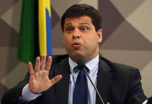 O ex-procurador Marcelo Miller, durante depoimento na CPM da JBS Foto: Givaldo Barbosa/Agência O Globo/29-11-2017