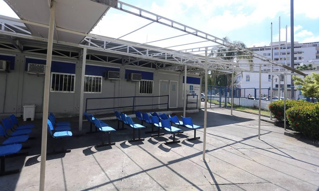 UPA da Tijuca foi uma das que tiveram o contrato rompido Foto: Fabiano Rocha / Agência O Globo