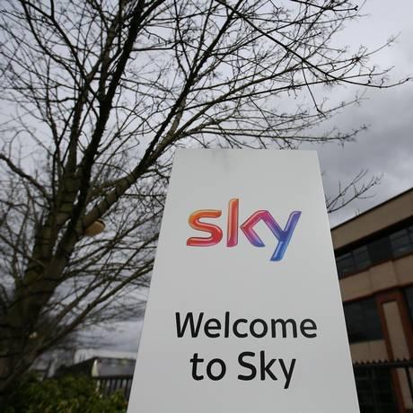 Escritório da Sky em Isleworth, no leste de Londres. Foto: Daniel Leal-Olivas/AFP
