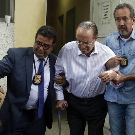 Paulo Maluf no IML de São Paulo, após ter sido preso Foto: Edilson Dantas/Agência O Globo/20-12-2017