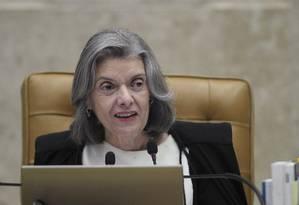 A ministra Cármen Lúcia Foto: Ailton Freitas / Agência O Globo / 22-3-18